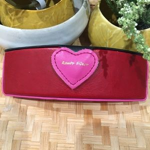 RONIT FURST heart glasses case pink red black